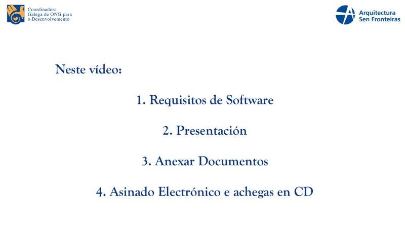 CGONGD: Video Titorial Para ONGD (II): Presentación de proxectos na Sede Electrónica da Xunta