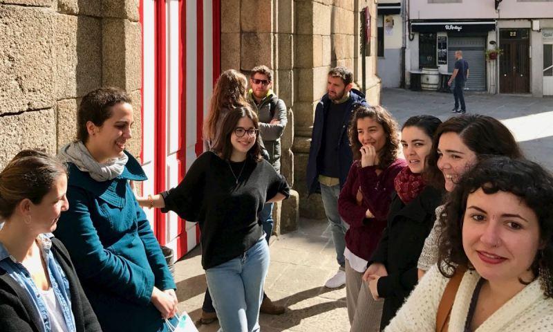 As compañeiras da demarcación de Galicia de Arquitectura Sen Fronteiras hoxe 8 de marzo