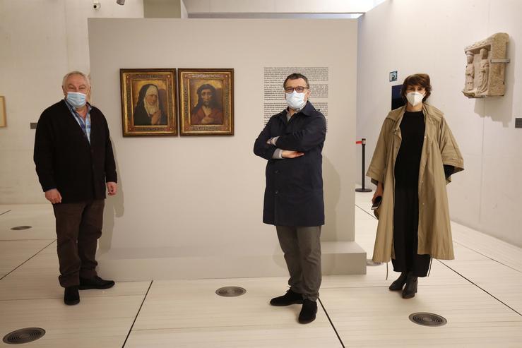O Museo de Pontevedra expón ao público antes da súa devolución as obras procedentes do espolio nazi.. DEPUTACIÓN DE PONTEVEDRA