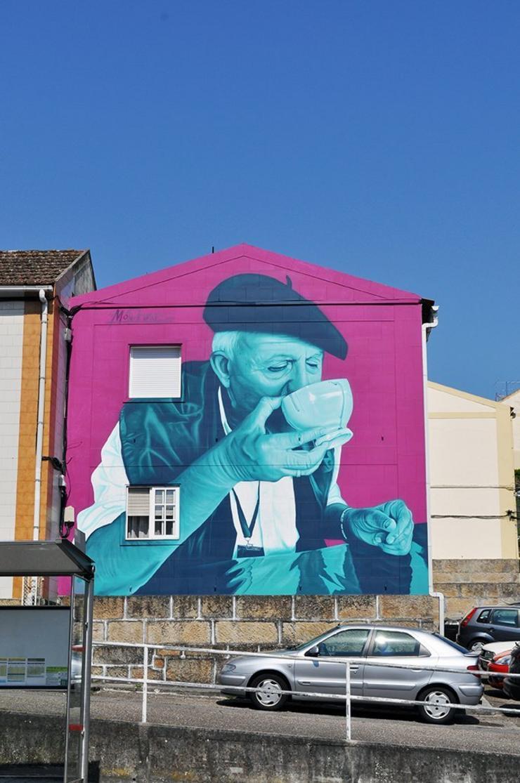 Un dos murais pintados por Mon Devane - mondevane.es