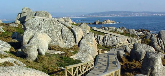 Wandelen in Galicia - paseo de pedras negras