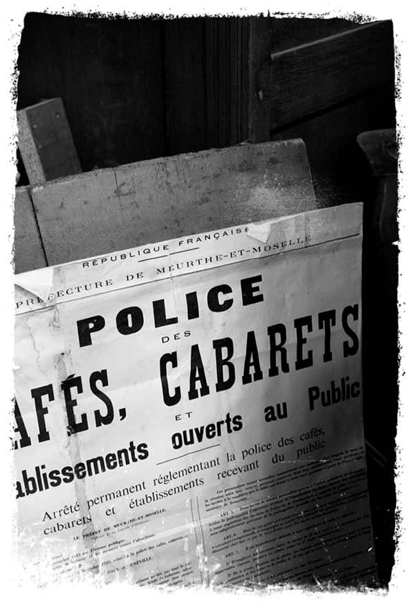 police des cafés et cabarets