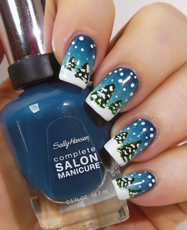 Simple Winter Nail Art Ideas For Short Nails