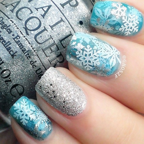 Simple Winter Nail Art Ideas For Short Nails 51