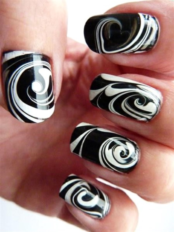 Black Nail Art Designs And Ideas 17
