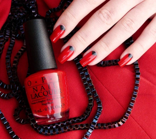 Red Nail Art Designs 12