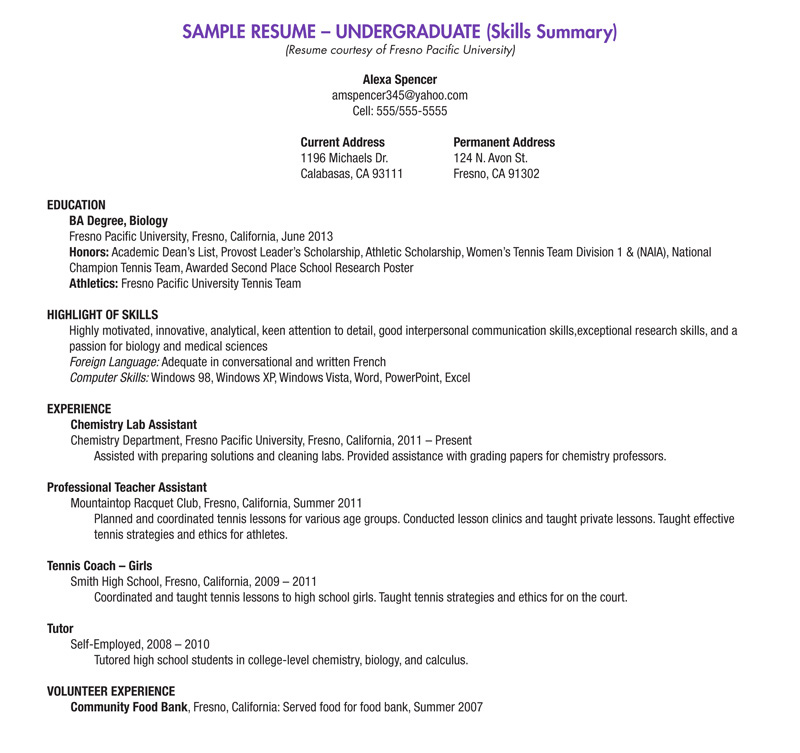 Resume Current Student Sample. College Student Resume Template