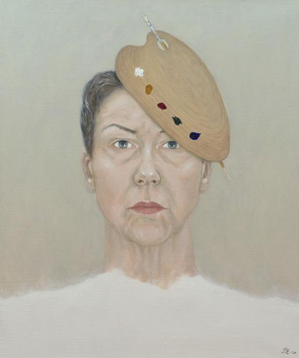 Päivi Eskelinen: Mielikuvia XVI, 2020, öljy kankaalle, 60 x 50 cm