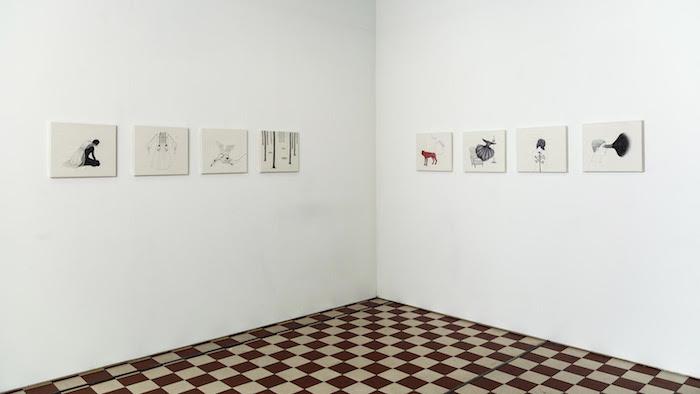Päivi Eskelinen, Galleria Huuto 2021. Valokuva Jouko Vatanen