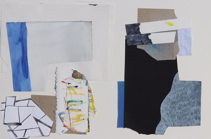 "Tero Kontinen: ""Merkkejä on ilmassa"", 63 x 45 cm,  akryyliväri, akryylimuste ja akryylimarker paperilla, akryylispray, 2018"