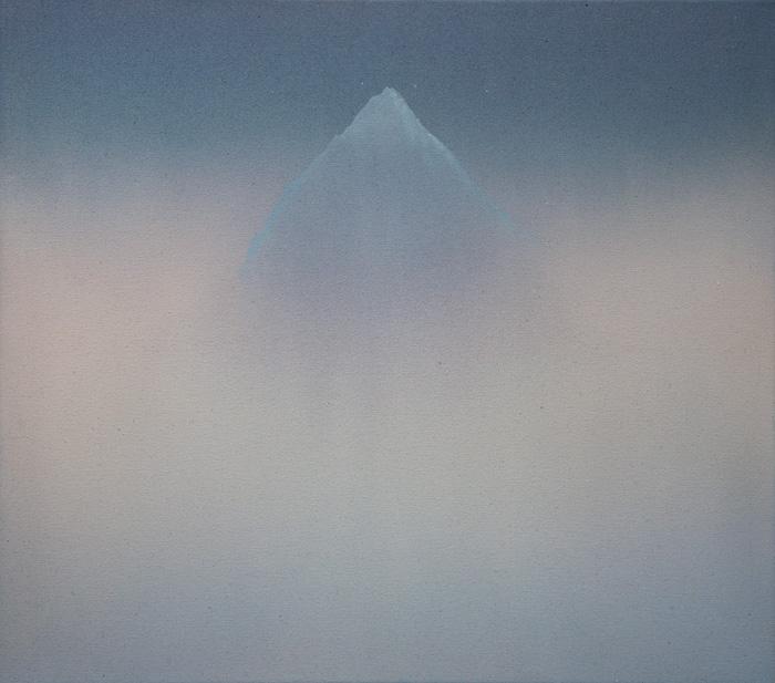 Vesa Hjort: Distance II, akryyli kankaalle, 54 x 61 cm, 2021