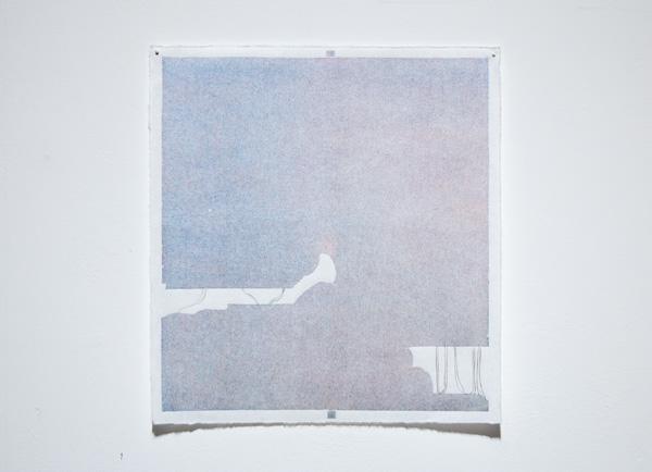 Jenni Rahkonen: Matkasuunnitelma / Itinerary, 2021, puupiirros ja lyijykynä paperille / woodcut & pencil on paper,  T.p.l'a 1/1