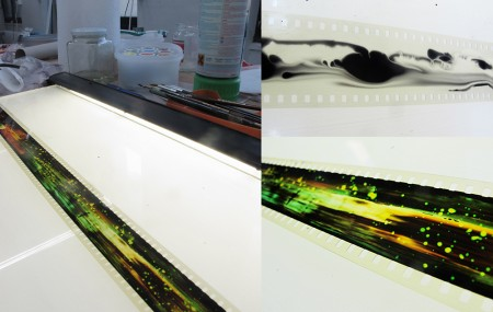 Miia Rinne, new painting on film in process