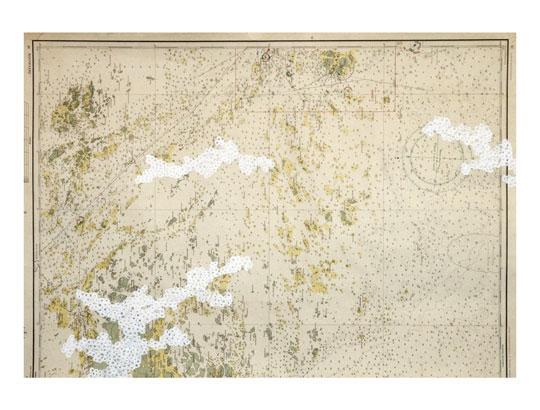 Tero Kontinen: Maisemaluonnos 1, 2008, peiteväri karttapaperille