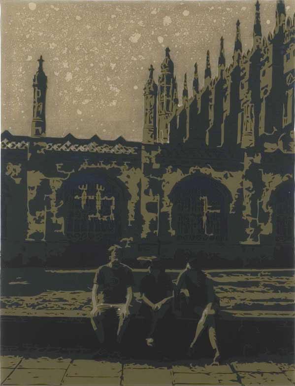 Tuhat ja kaksi yötä, 2006, spraymaali, paperileikkaus ja epoksilakka mdf-levylle, 51 x 39 cm