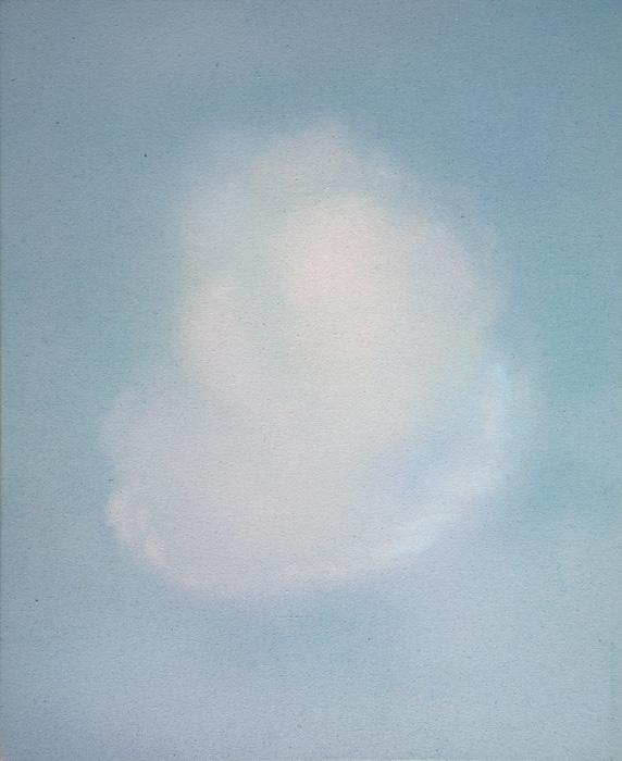 Vesa Hjort, Of Light and Lightness I, akryyli kankaalle, 61 x 50 cm, 2021