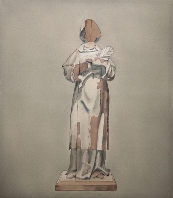 Iconoclastic Idol, akryyli kankaalle 160 x 140 cm, 2017