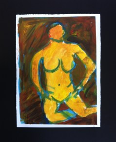 Nude 1 - Acrylic on Paper 11 x 15 inches