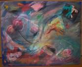 Three Innocent Gentlemen - Acrylic & Mixed Media on Canvas