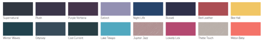Friday's Favourites, Dulux 2016 Colour Forecast. Gallerie B