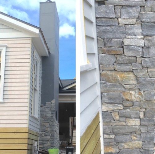 Our stone chimney progress, Friday's Favourites, Gallerie B blog.