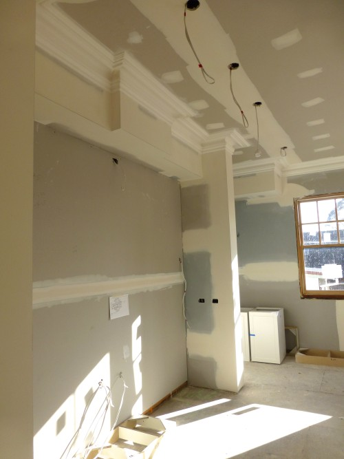 Our new build update, the cornice is up. Friday's Favourites, Gallerie B blog.