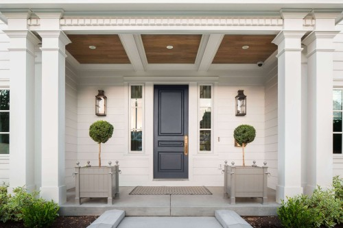 Symmetrical front door design. Friday's Favourites, Gallerie B blog.
