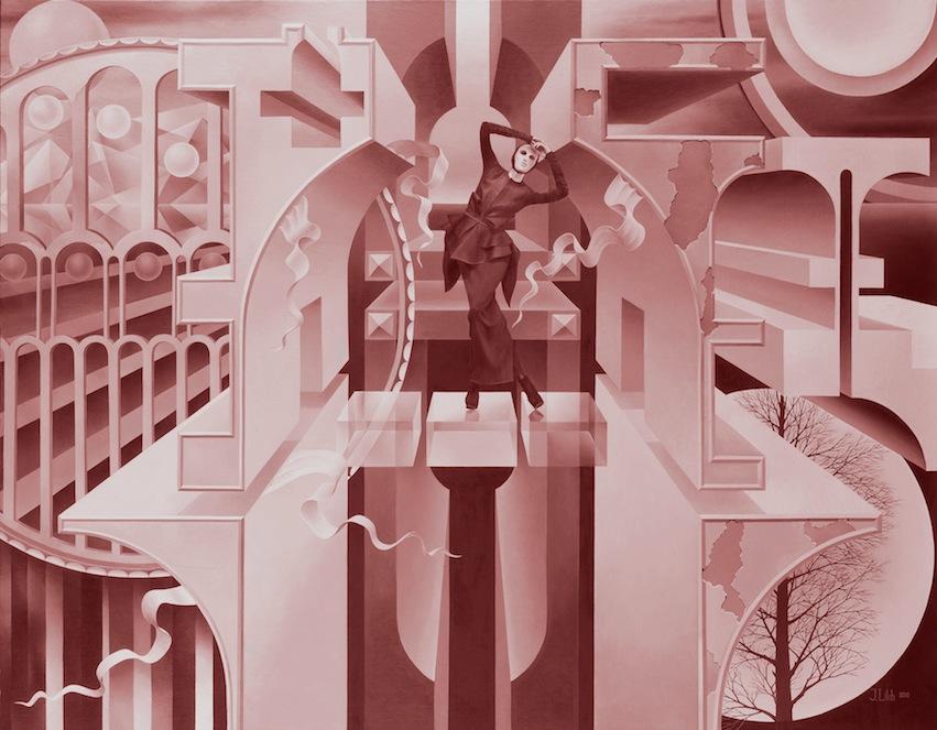 Julius Likh, Exile of an Architect, 2010, canvas on cardboard, oil, 96cm x 75cm