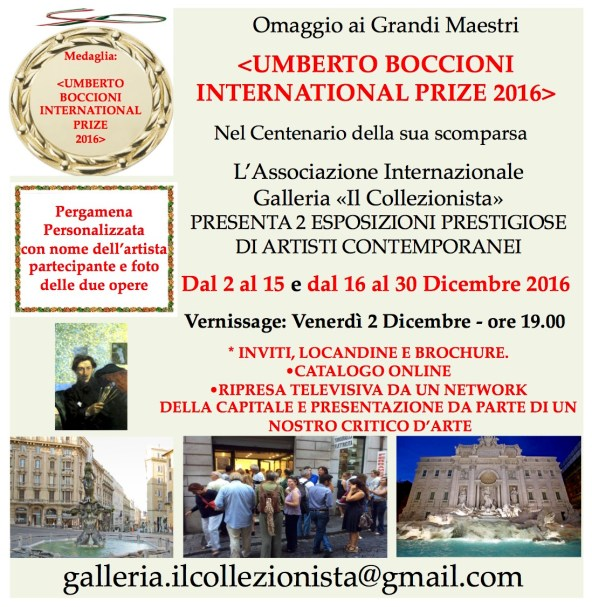 Umberto Boccioni International Prize 2016