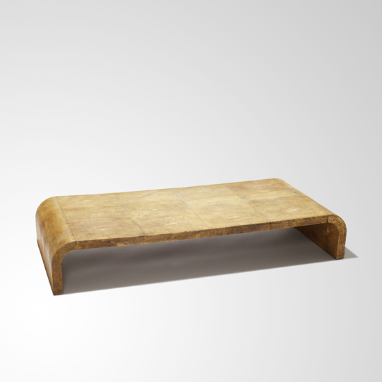 low coffee table with inverted u form