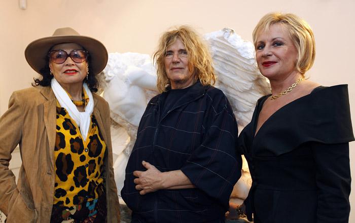 Met mode ontwerpster Fong Leng en Gerti Bierenbroodspot