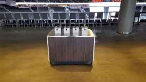Arena Condiment Cart Kiosk Venues Condiment Rogers Place Edmonton Canada 1