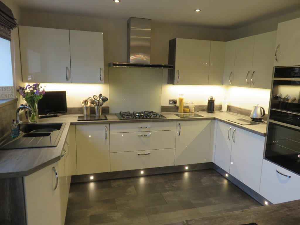 Gloss Ivory Kitchen With Jackson Pine Cabinets The Gallery Fitted Kitchens