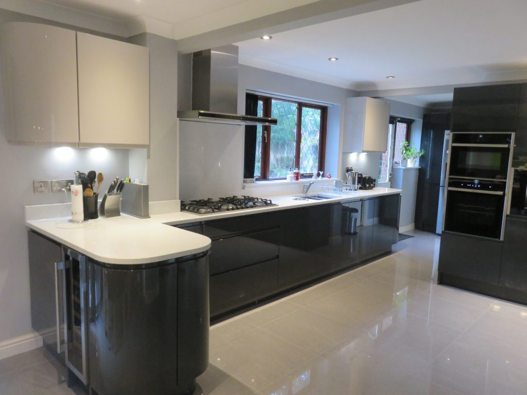 Gloss Anthracite Amp Cashmere Handle Less Kitchen In Kidderminster Worcs