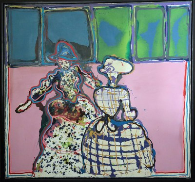 Two Ladies by John Kiki