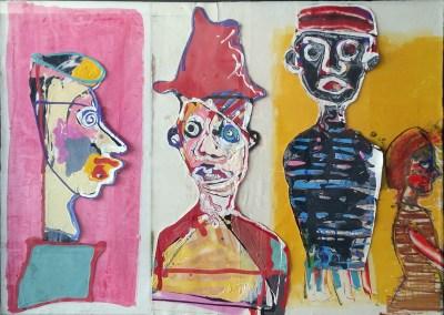 Three Men and a Girl by John Kiki