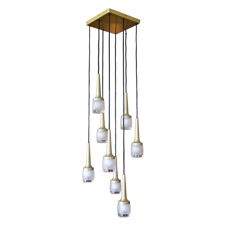 Eight Light Chandelier By Staff Of Germany