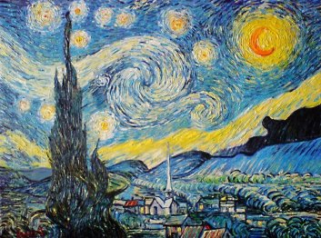 Starry Night - Van Gogh - Oil Painting - Save & Buy Online Now!