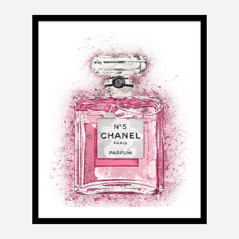 pink chanel no 5 art print