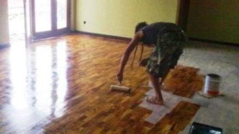 finishing lantai kayu
