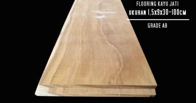 flooring kayu jati grade ab