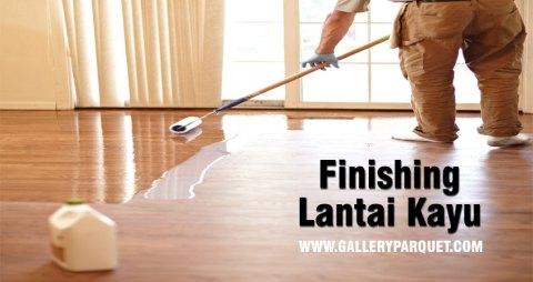 finishing lantai kayu jati