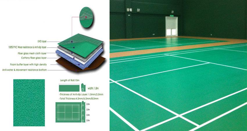 vinyl badminton lining