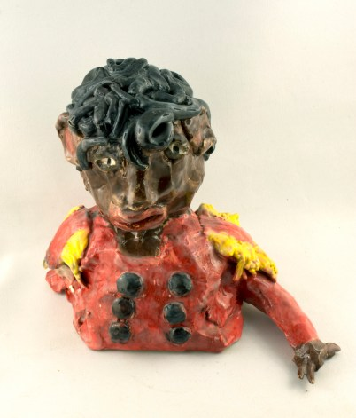 Michael Jackson - glazed ceramic by Aba Garbrah