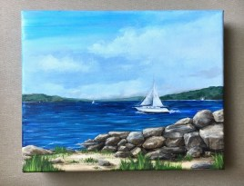 """Bayview Acrylic on canvas 8"""" x 10"""" $125 (gallery wrapped canvas)"""