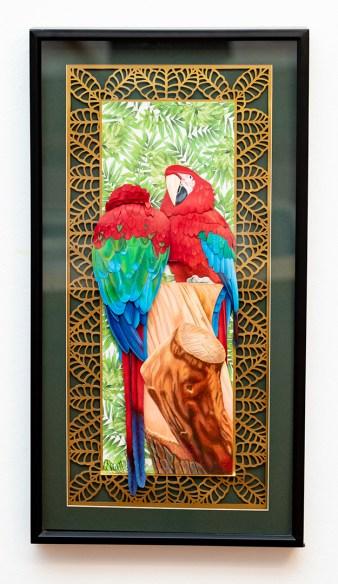 Macaws, 2018 Mixed media paper sculpture SOLD!