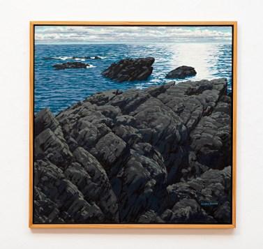 "Liv's Diving Spot Oil on canvas 38"" x 38"" framed $8000.00"