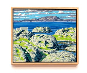 "To the East II, 2007 Oil on canvas 24"" x 20"" (framed) $4000.00"