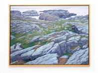 "Over Rocks to Boknfjord, 2007 Oil on canvas 38"" x 50"" (framed)