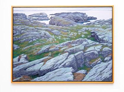 """Over Rocks to Boknfjord, 2007 Oil on canvas 38"""" x 50"""" (framed) $9000.00"""